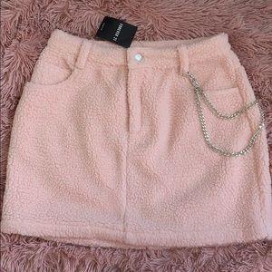 Forever 21 Pink Faux Sherling Mini Skirt